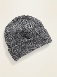 Sweater-Knit Rolled-Cuff Beanie for Boys