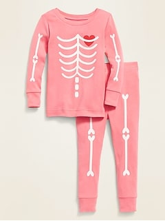 Glow-in-the-Dark Skeleton-Graphic Sleep Set for Toddler & Baby