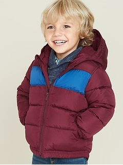 Frost-Free Color-Blocked Puffer Jacket for Toddler Boys