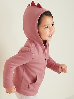 Critter Zip Hoodie for Toddler Girls