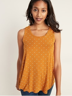 Luxe Polka-Dot Tank for Women