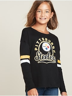 NFL&#174 Team-Graphic Sleeve-Stripe Tee for Girls