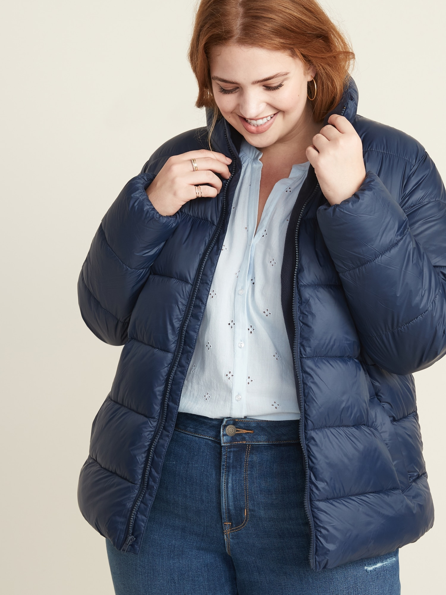 Frost Free Plus Size Zip Puffer Jacket by Old Navy