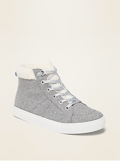 Wool-Blend Sherpa-Lined High-Tops for Girls
