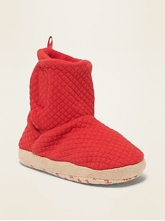Quilted Jersey Slipper Boots for Toddler & Baby