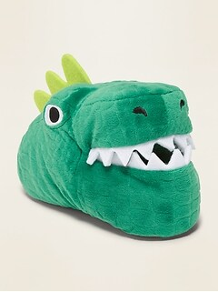 Plush Dinosaur Slippers for Toddler Boys