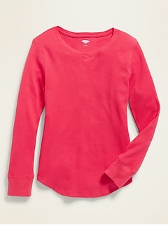 Long & Lean Thermal Tee for Girls