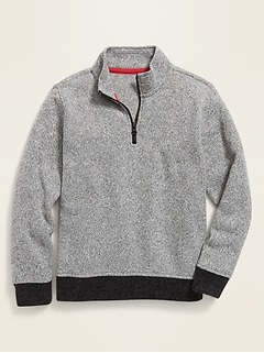 Sweater-Fleece 1/4-Zip Pullover for Boys