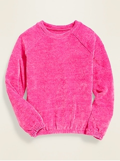 Plush-Knit Hi-Lo Sweater for Girls