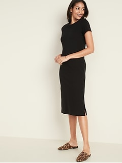 Crew-Neck Midi Tee Dress for Women