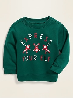 Holiday-Graphic Sweatshirt for Baby