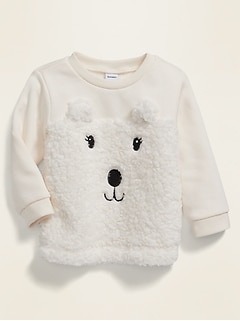 Relaxed Bear-Graphic Sweatshirt for Baby