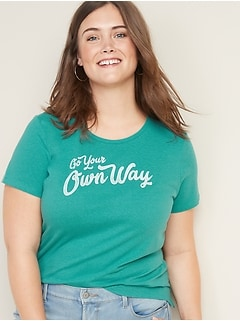 Slim-Fit Plus-Size Graphic Tee