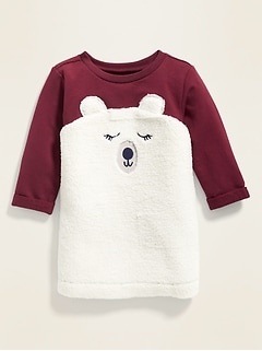 Critter-Graphic Sweatshirt Dress for Baby