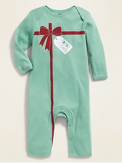 Christmas-Graphic One-Piece for Baby