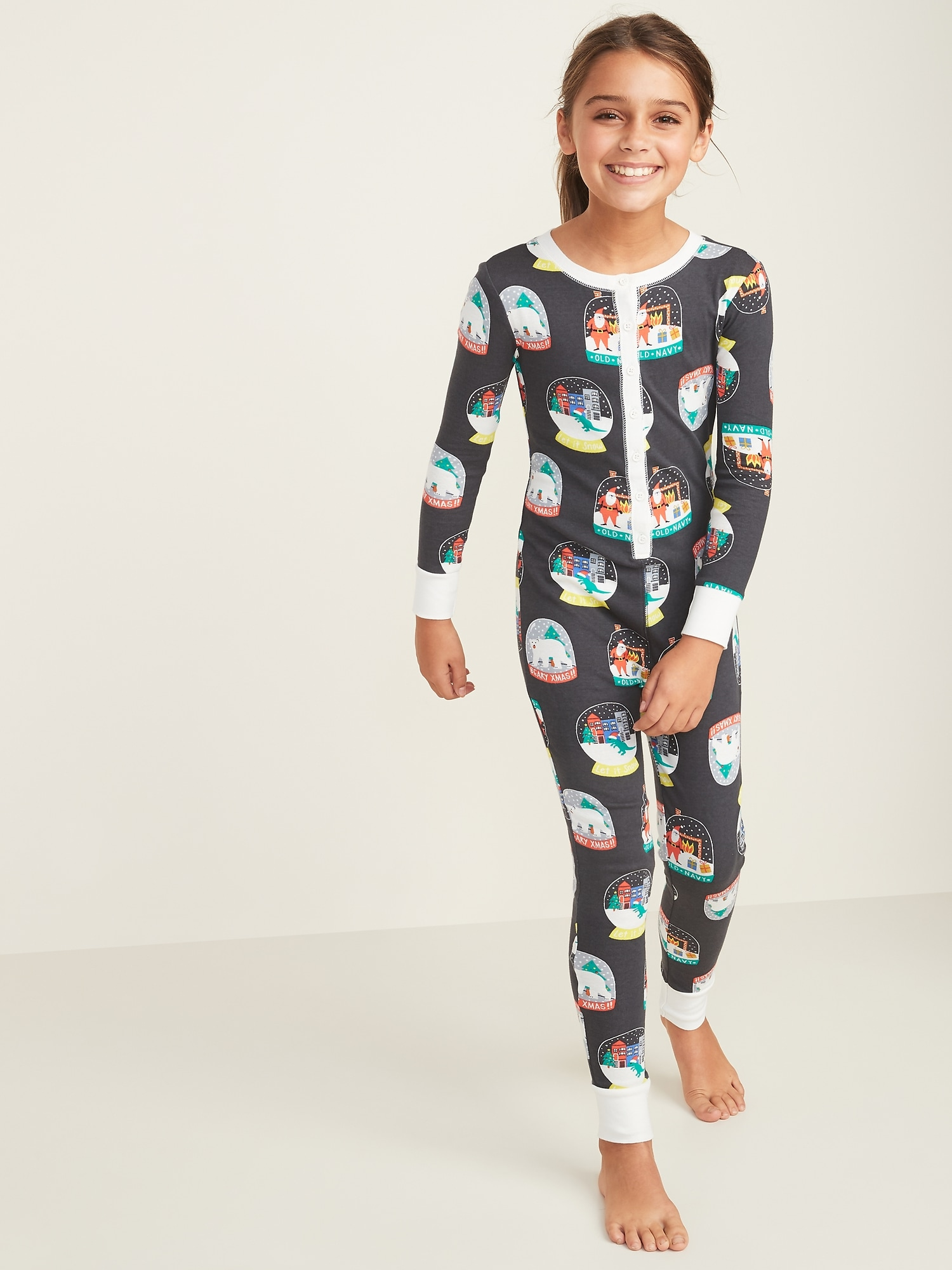Printed One Piece Pajamas for Girls