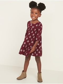 Tiered-Ruffle Floral Swing Dress for Toddler Girls
