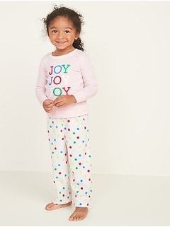 """Joy Joy Joy"" Pajama Set for Toddler Girls & Baby"