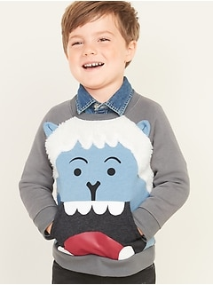 Critter-Graphic Yeti Sweatshirt for Toddler Boys