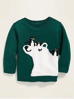 Polar Bear & Penguins Graphic Sweater for Baby