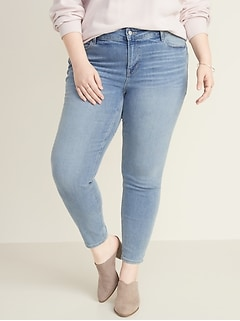High-Waisted Rockstar Super Skinny Plus-Size Jeans