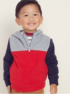 Micro Performance Fleece 1/4-Zip Hoodie for Toddler Boys