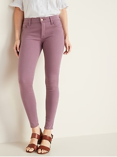 Mid-Rise Rockstar 24/7 Pop-Color Super Skinny Jeans