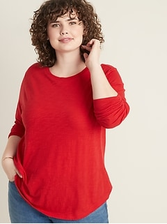 EveryWear Slub-Knit Plus-Size Tee