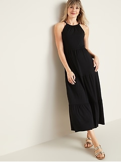Sleeveless Waist-Defined Maxi Dress for Women