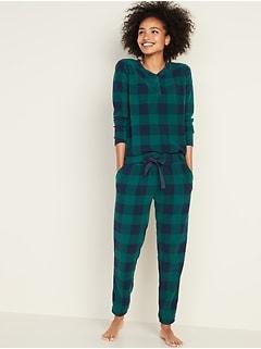 Micro Performance Fleece Pajama Set for Women