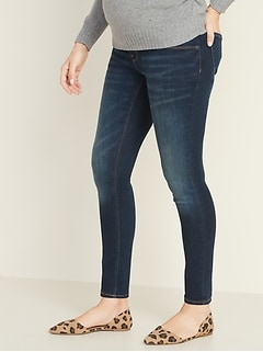 Maternity Front-Low Panel Rockstar Super Skinny Jeans