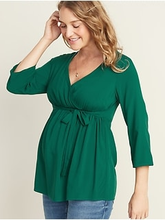 Maternity Wrap-Front Top