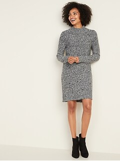 Textured-Marl Sweater Dress for Women