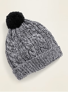 Sherpa-Lined Cable-Knit Beanie for Baboy