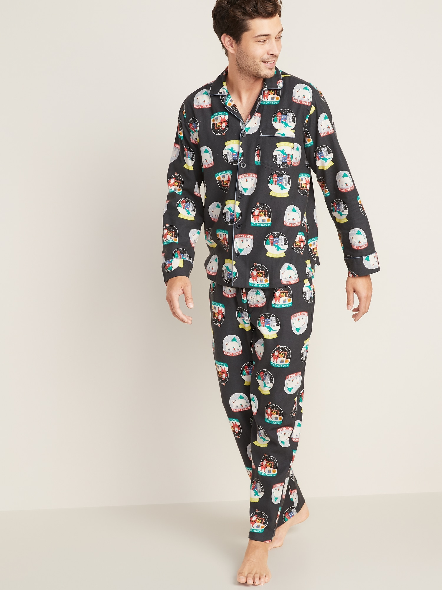Patterned Flannel PJs for Men