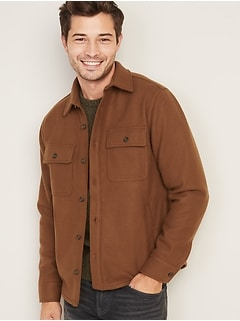 Soft-Brushed Shirt-Jacket for Men