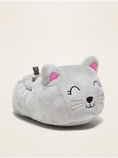 Plush Cat Slippers for Toddler Girls