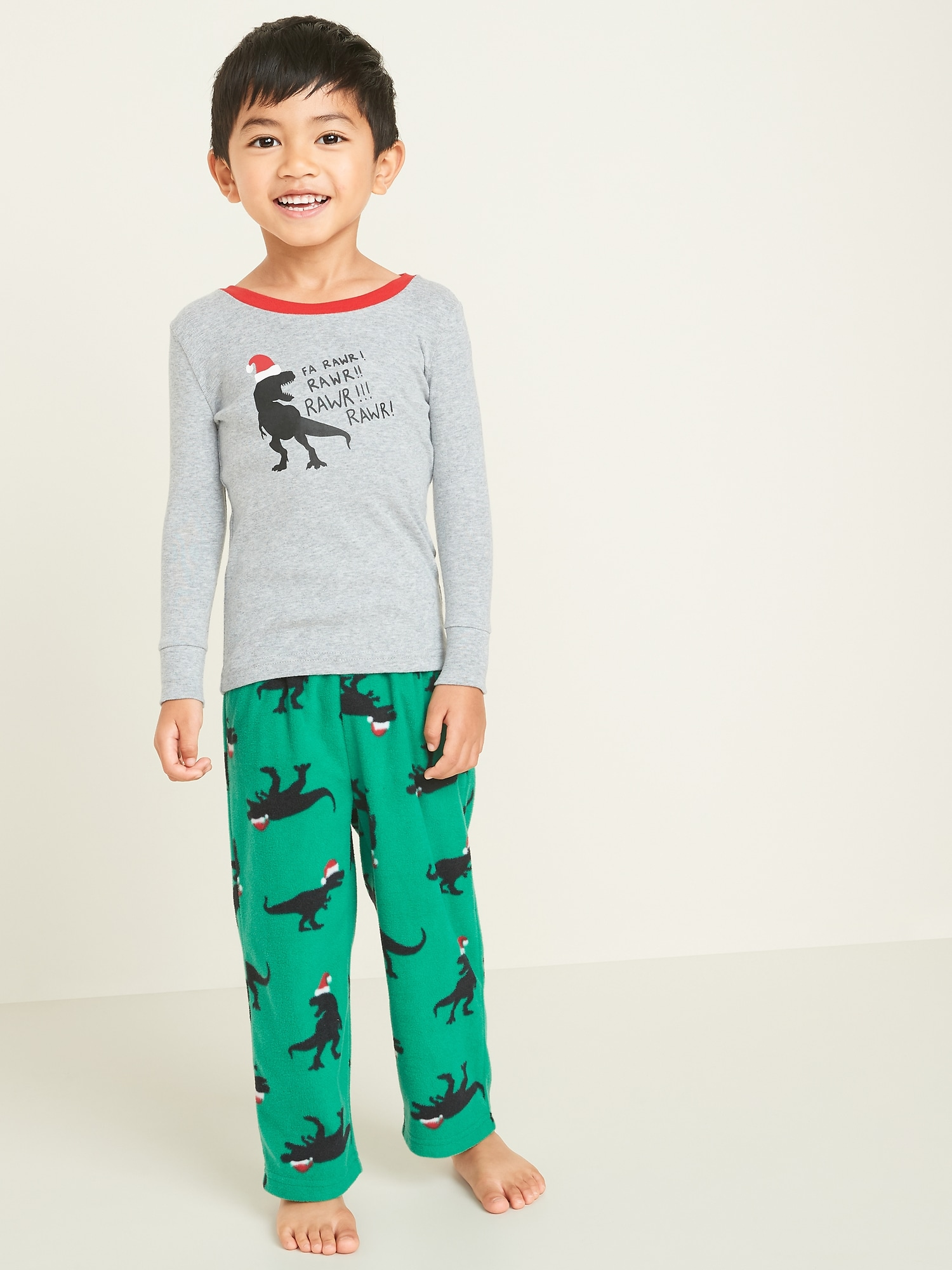 Christmas TRex Pajamas for Boys