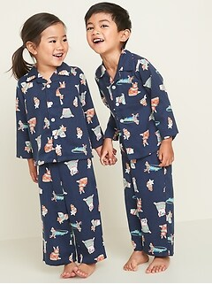 Patterned Twill Pajama Set for Toddler & Baby