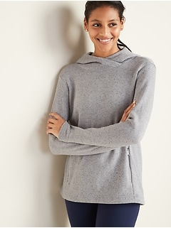 Go-Warm Sweater-Knit Performance Hoodie for Women