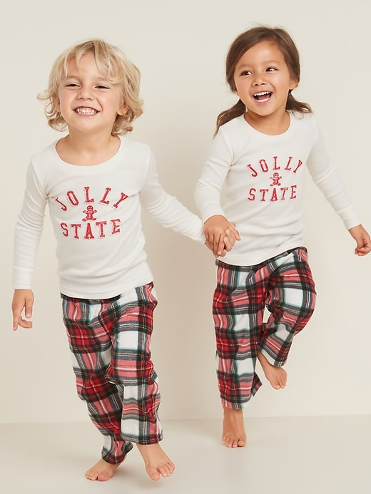"""Jolly State"" Graphic Pajama Set for Toddler & Baby"