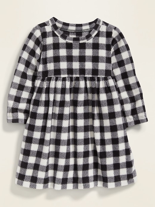 Patterned Micro Performance Fleece Dress for Baby