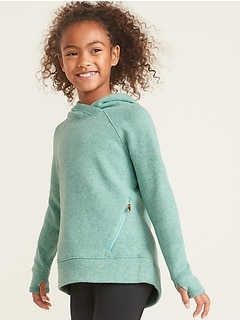 Go-Warm Sweater-Knit Performance Hoodie for Girls