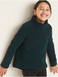 Go-Warm Sherpa Cowl-Neck Top for Girls