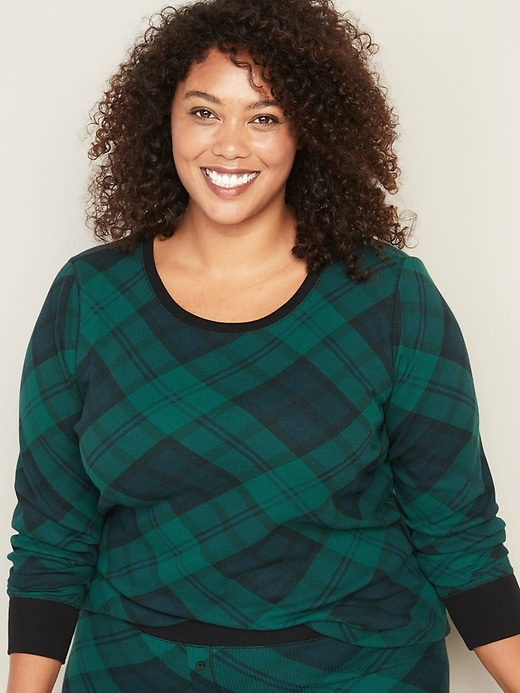 Plus-Size Crew-Neck Thermal Top