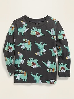Printed Crew-Neck Tee for Toddler Boys