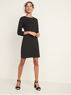 Ponte-Knit Sheath Dress for Women