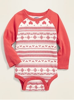 Raglan-Sleeve Bodysuit for Baby