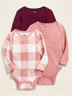 Thermal-Knit Bodysuit 3-Pack for Baby