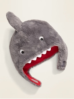 Faux-Fur Shark Trapper Hat for Toddler